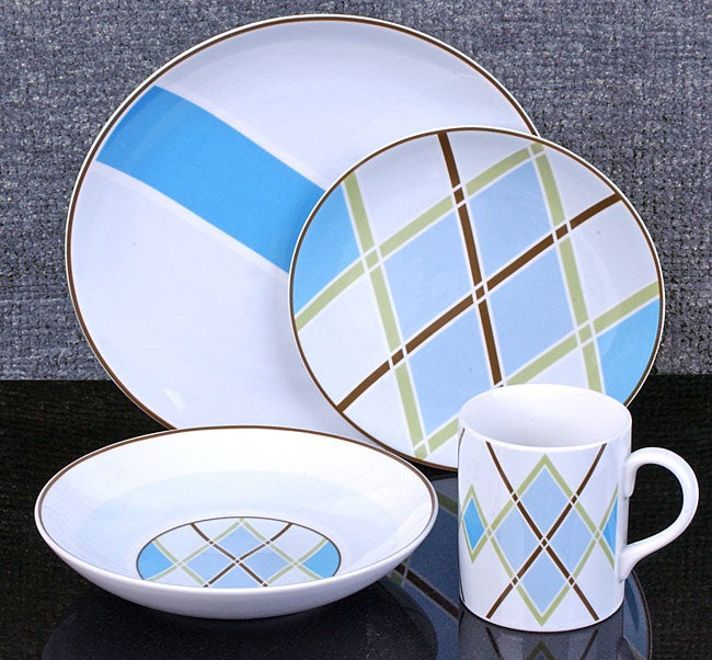 studio nova argyle 16 piece dinnerware set 10376341