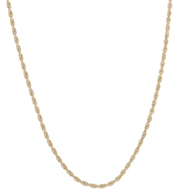 14k Yellow Gold 20-inch Diamond-cut Rope Chain (1.5 mm)
