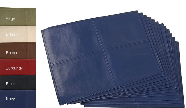 Faux Leather Metro Placemats (Set of 12)