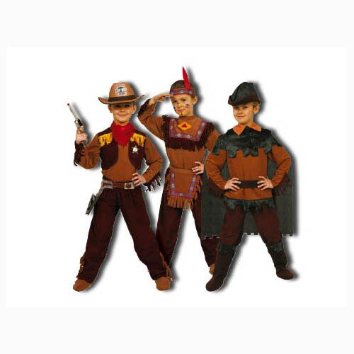 3-in-1 Cowboy, Indian, Peter Pan Dress Up Costume
