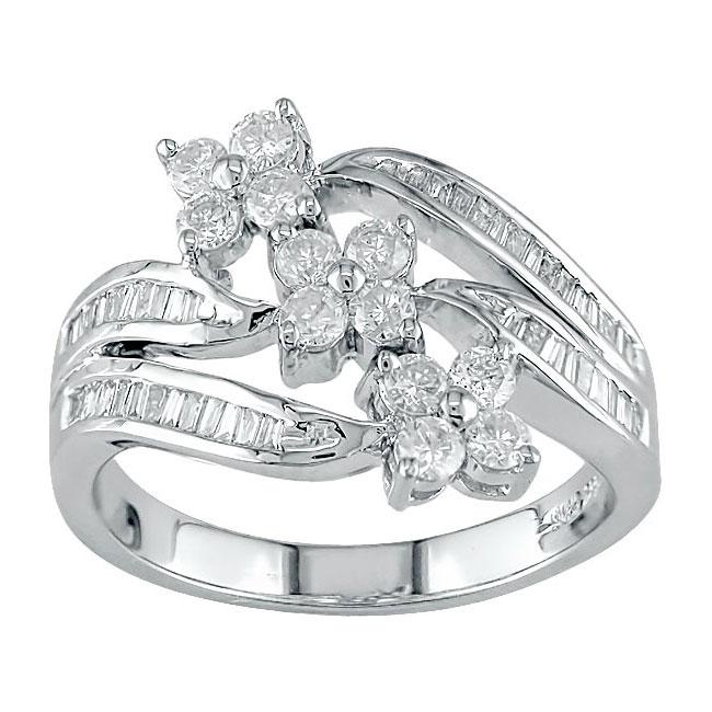 14k White Gold 3/4ct TW Diamond Ring