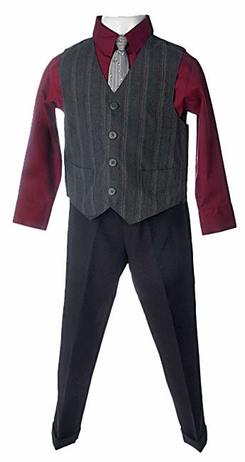TFW Boy's 4-piece Vest and Tie Pant Suit