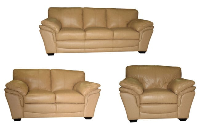 Camel Leather Sofa Loveseat And Chair Set 10387677 Shopping Great Deals On