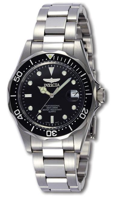 Invicta Pro Diver SQ Mens Quartz Steel Watch