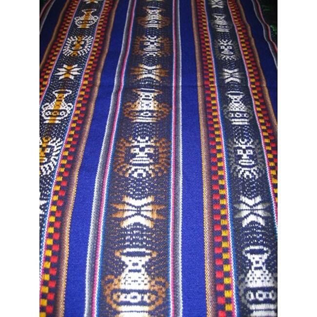 Rustic Handwoven Andean Tablecloth (Peru)