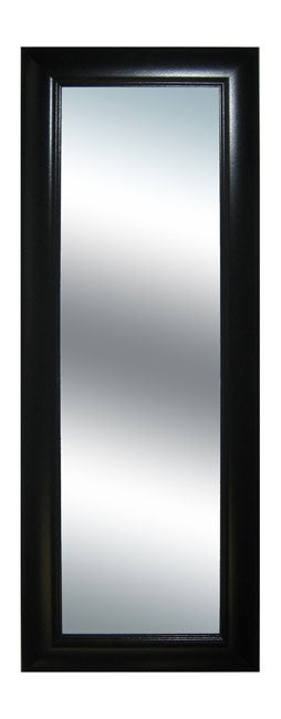 Black grooved frame long wall mirror overstock shopping for Long wall mirrors for sale