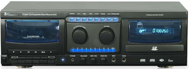 Professional CD and Cassette Recorder Combo System