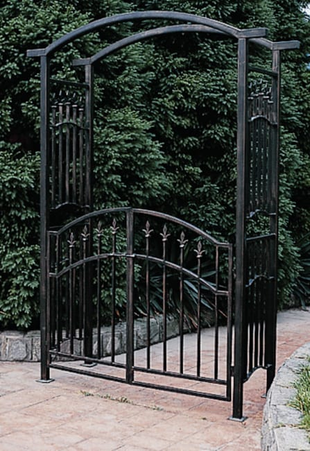 Orleans Wrought Iron Garden Arbor 10454971 Overstock