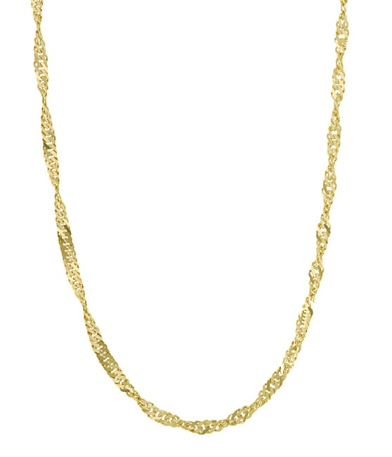 14k Yellow Gold Singapore Chain (24 in.)