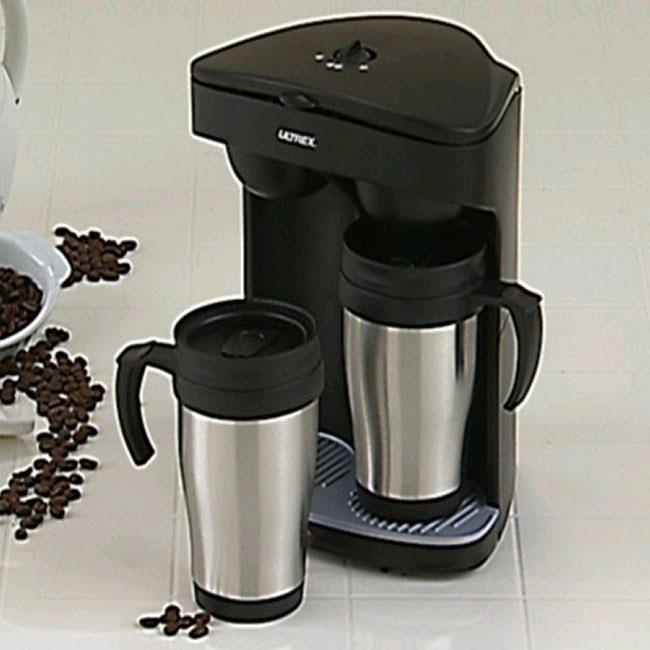 Coffee Maker Into Travel Mug : Ultrex Double Travel Mug Coffee Maker - 10463952 - Overstock.com Shopping - Great Deals on ...