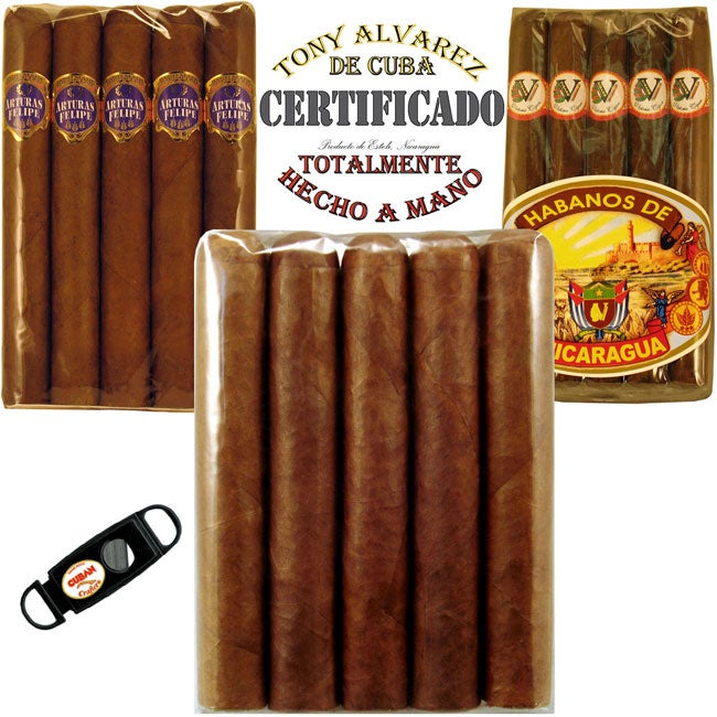 75 Premium Habano Cigars & Cigar Cutter