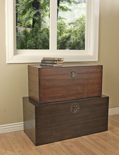 Distressed Storage Trunk Tables (Set of 2)