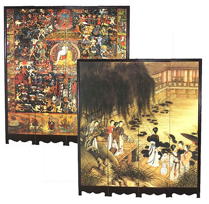 Wood Oriental Decorative Room Divider (China)