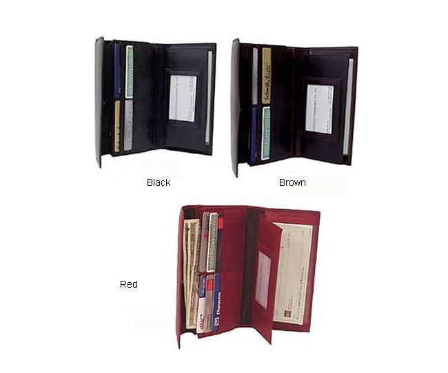 Amerileather Leather 3-pocket Checkbook Wallet