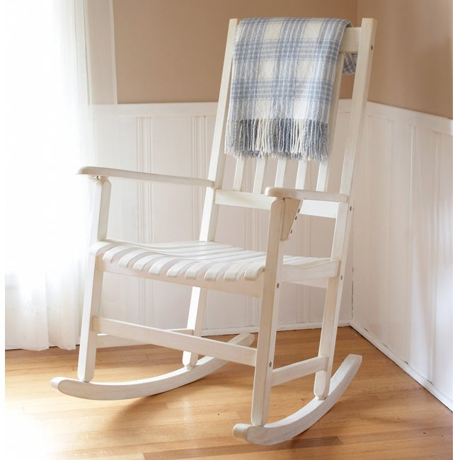 White Wooden Rocking Chair - 10505184 - Overstock.com Shopping - Great ...