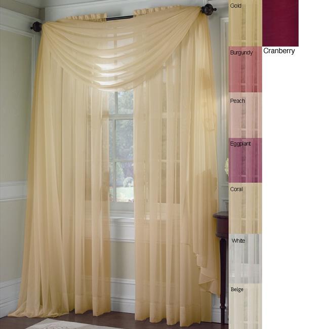 Platinum Voile Sheer Rod Pocket 95-inch Curtain Panel