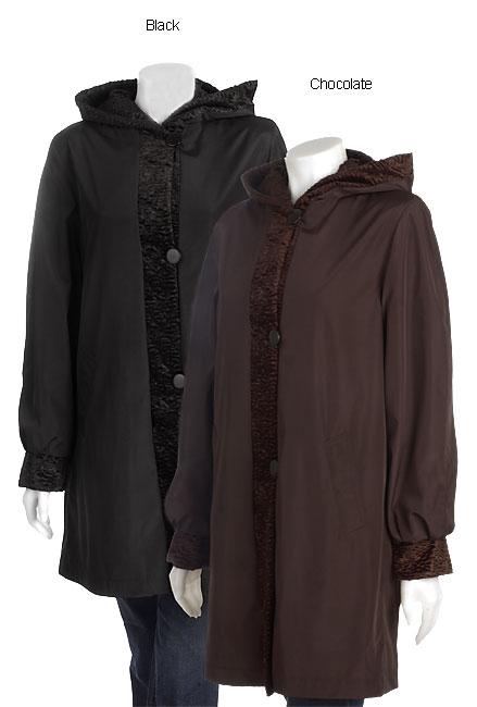 Marvin Richards 3/4 Length Reversible Faux Fur Coat