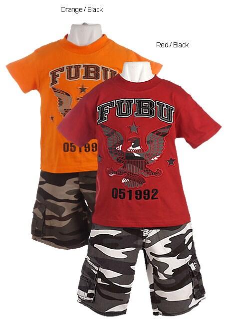 FUBU Boys T-Shirt and Shorts Set