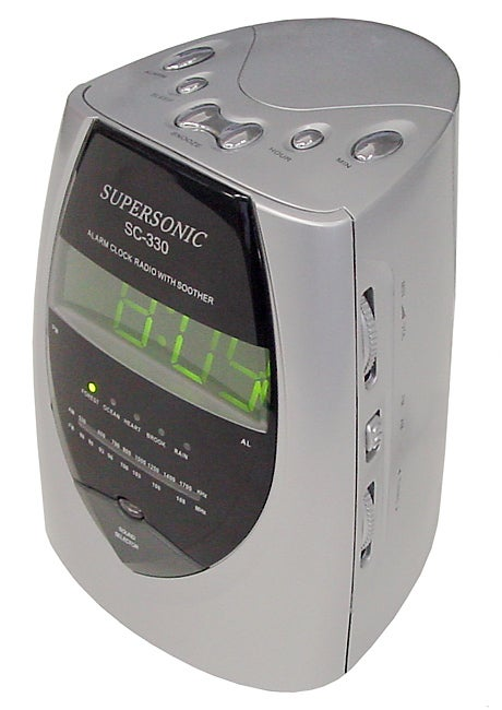 supersonic digital alarm clock radio 10537907 shopping top rated supersonic. Black Bedroom Furniture Sets. Home Design Ideas