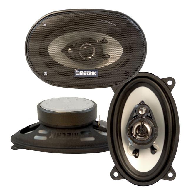 Metrik 4 x 6-inch 220-watt 3-way Car Speakers