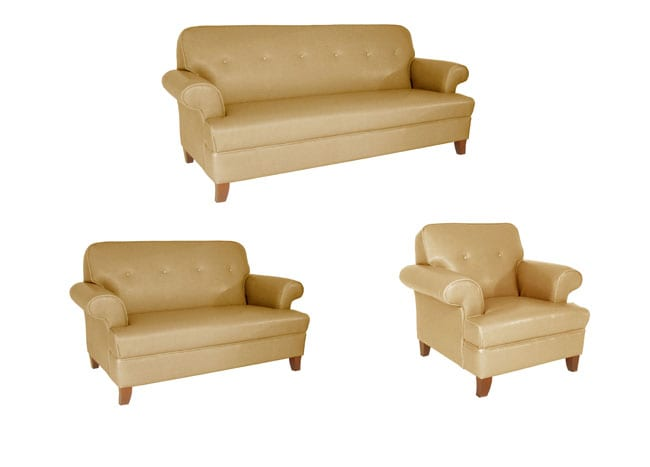 Sand Color Sofa, Loveseat and Chair Set