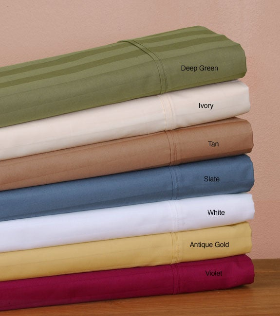 440 Thread Count Cotton Striped Sheet Set
