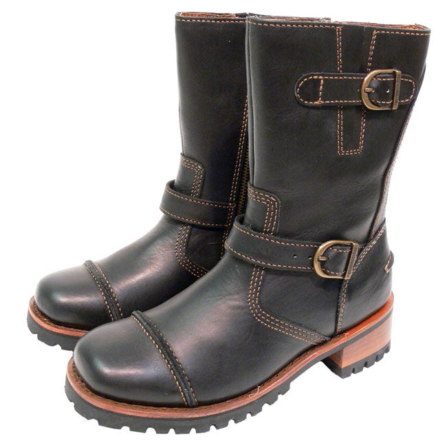 Harley Davidson Womens Leather Motorcycle Boots