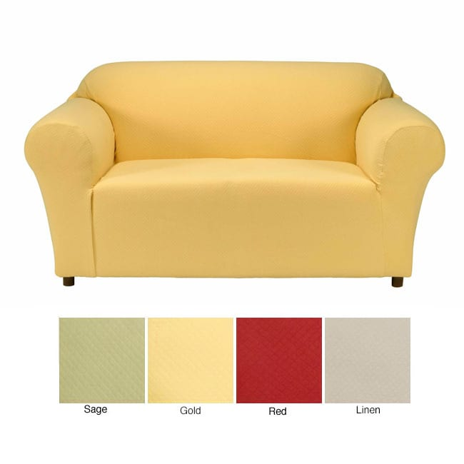 Diamond Stretch Loveseat Slipcover 10623880 Shopping Big Discounts On