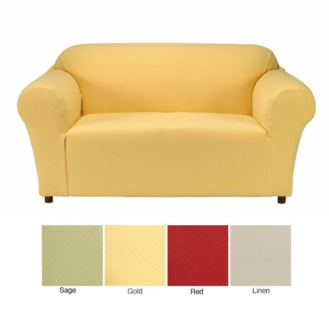 Diamond stretch loveseat slipcover 10623880 shopping big discounts on Loveseat stretch slipcovers