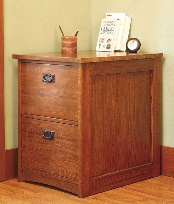 Mission Solid Oak 2-drawer Vertical File Cabinet