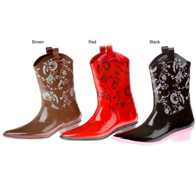 Womens western rubber boots