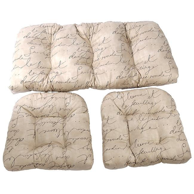 Script Wicker Sette 3 Piece Cushion Set 10687449