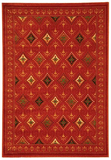 Safavieh Fine-spun Regal Orange/ Multi Area Rug (6'7 x 9'6)