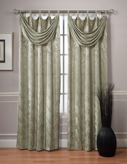 Traynor 84 Inch Tab Top Curtains With Attached Valance