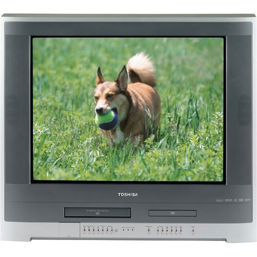 toshiba 27 inch flat screen tv w dvd vcr combo refurbished 10709698. Black Bedroom Furniture Sets. Home Design Ideas