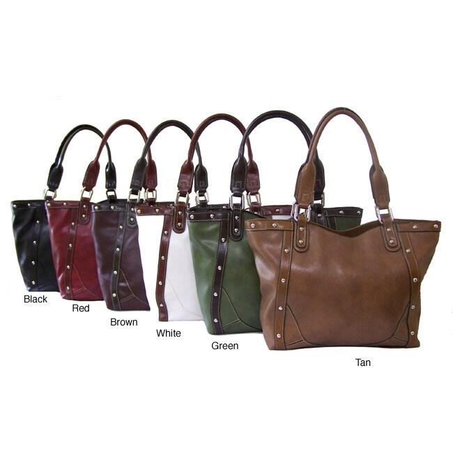 Rina Rich Bolster Shoulder Bag