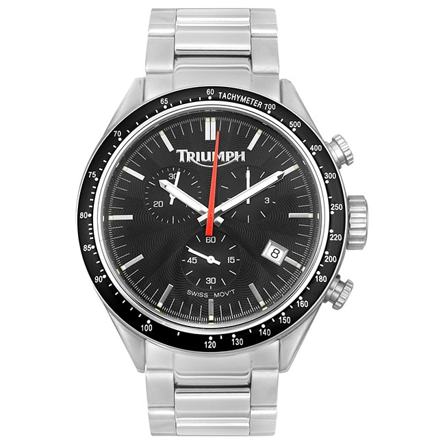 Triumph Motorcycles Mens Chronograph Steel Watch
