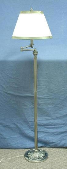 Stiffel old silver swing arm floor lamp overstock for Overstock silver floor lamp
