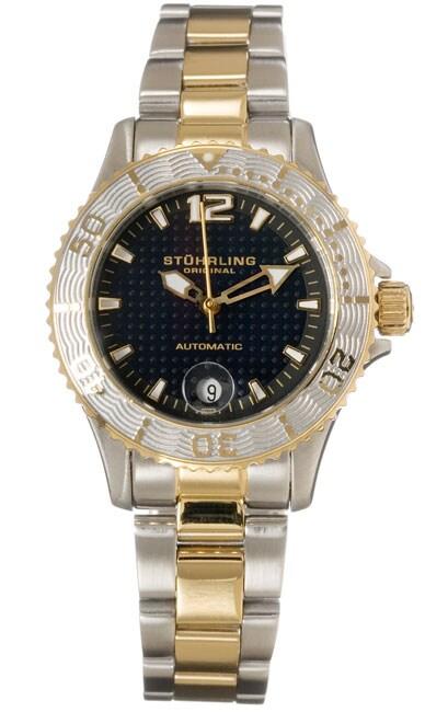 Stuhrling Original 'Lady Regatta' Diver Auto Two-tone Watch