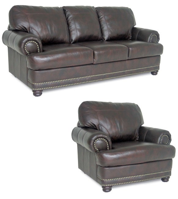 Spencer Leather Sofa And Chair 10725044