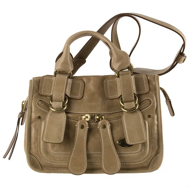 Chloe Camel Leather \u0026#39;Bay\u0026#39; Small Satchel Bag - 10725523 - Overstock ...