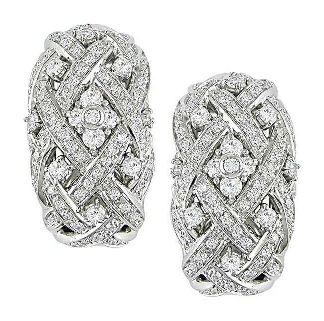Miadora 18k White Gold 1 7/8ct TDW Diamond Earrings
