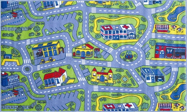 Driving Time Rug (3'3 x 4'11)