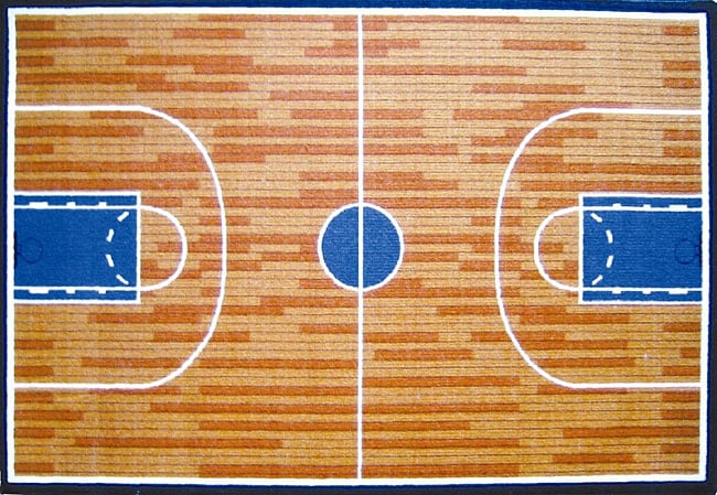 Basketball Court Rug (3'3 x 4'11)