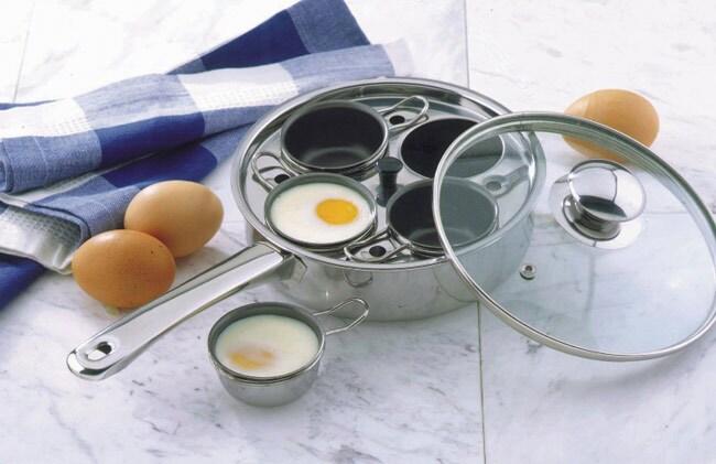 Stainless Steel Frying Pan/ Egg Poacher