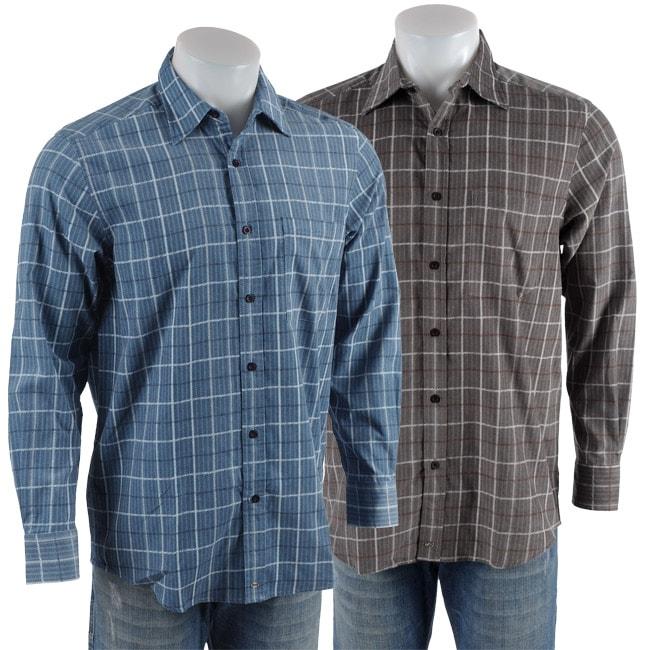 Andrew Fezza Men 39 S Long Sleeve Corduroy Shirt Overstock