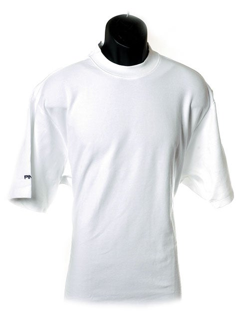 PING Golf Wicking Pique Mock Neck Golf Shirt