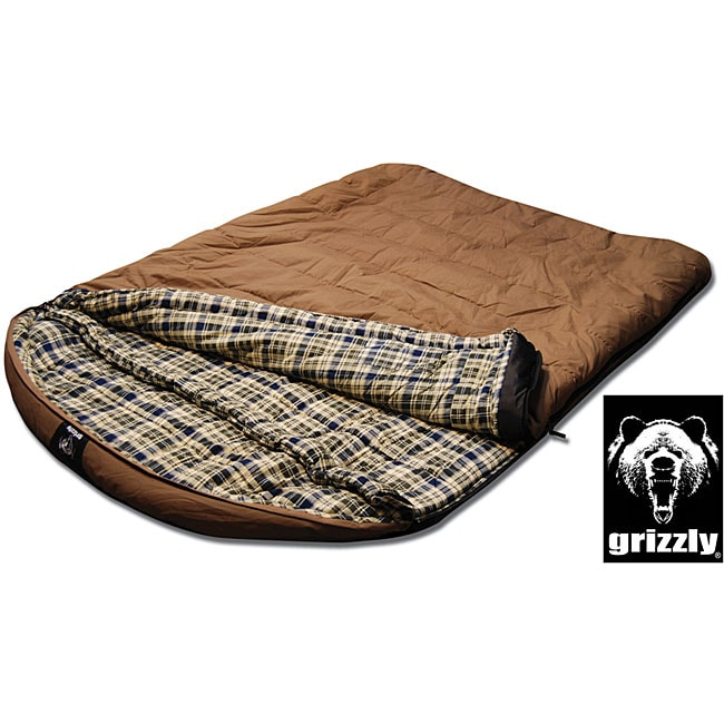 Grizzly 2-person +25-degree Canvas Sleeping Bag ...