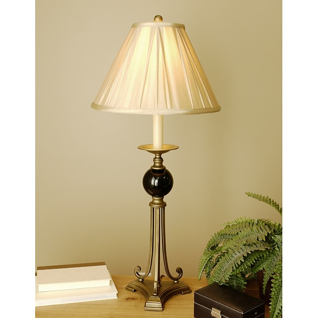 Antique Bronze/Glass Table Lamp