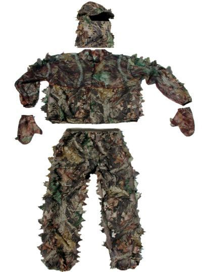 Five Piece Classic Leafy Wear 3D Breakup Camo Suit